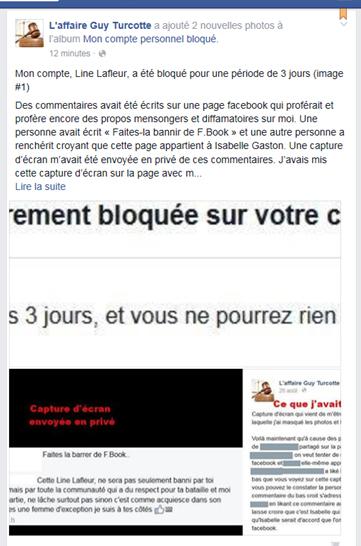 Line Lafleur bloquée FB...