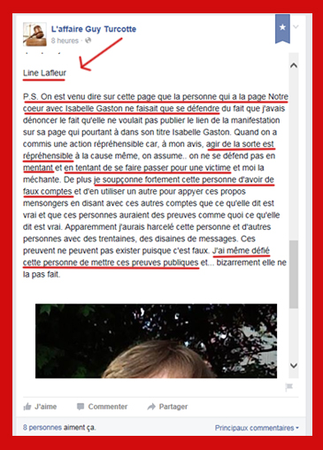 Line Lafleur défi public