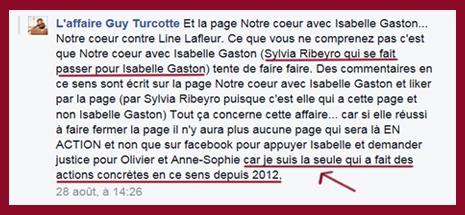 Line Lafleur est la seule...